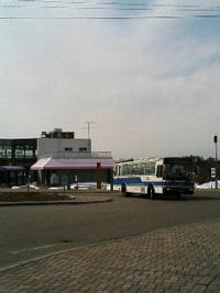 ながぬま温泉前バス到着