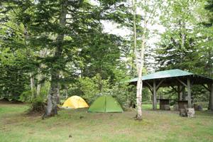 兄弟のテント