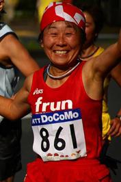 東京国際女子マラソンにて
