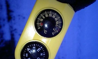 温度計はマイナス20度以下